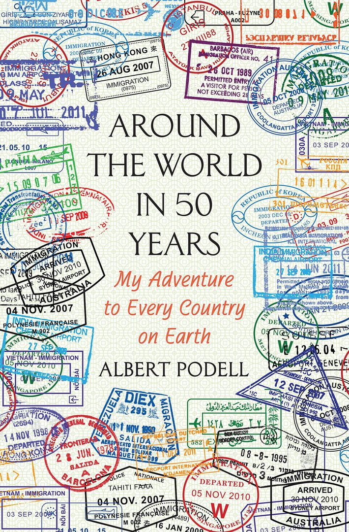 Foto van de kaft van 'Around the World in 50 Years' door Albert Podell