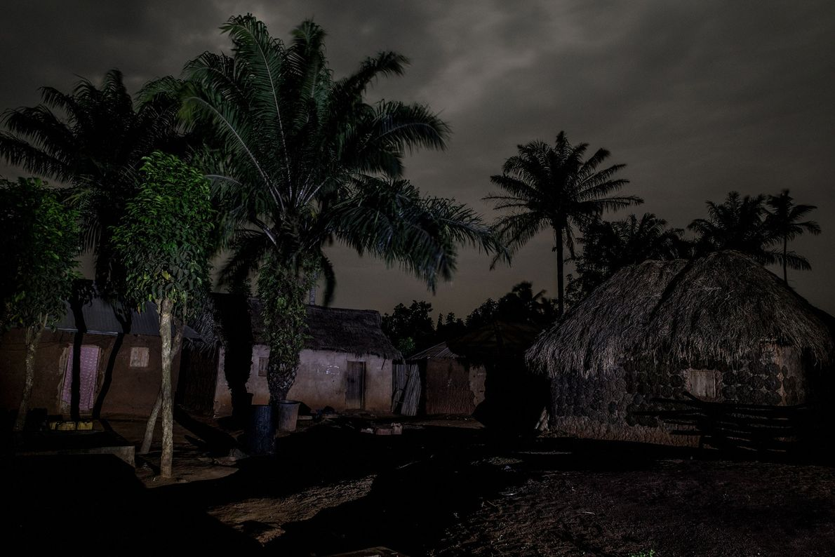 """The village of Gbekandji is deserted by 8pm at night, says Maitre. """"People stay indoors out ..."""