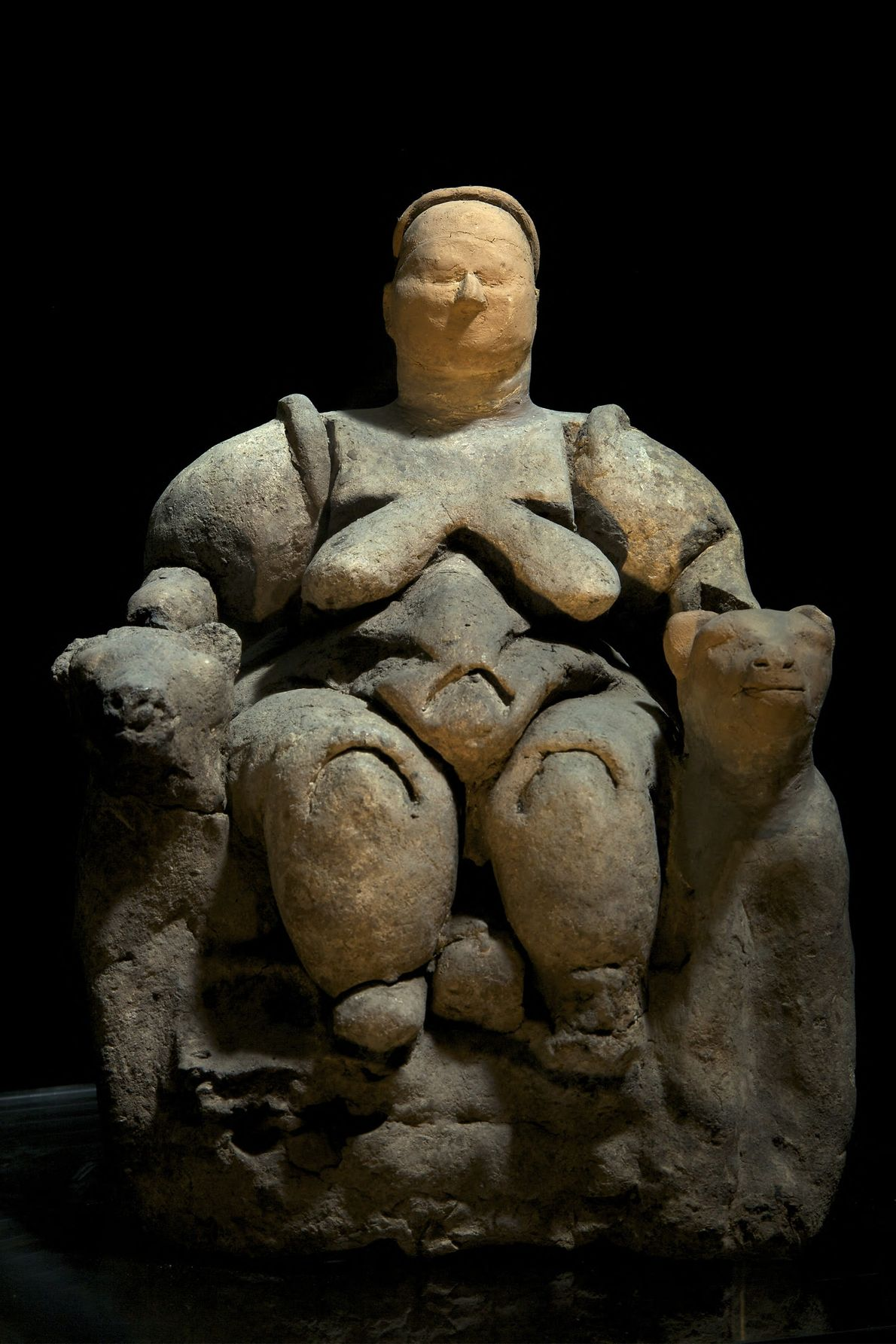 This sculpture of the mother-goddess Kybele was found at Catalhoyuk, Turkey and is often cited as ...