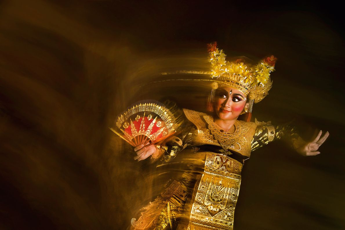 Picture of a legong dancer in Bali