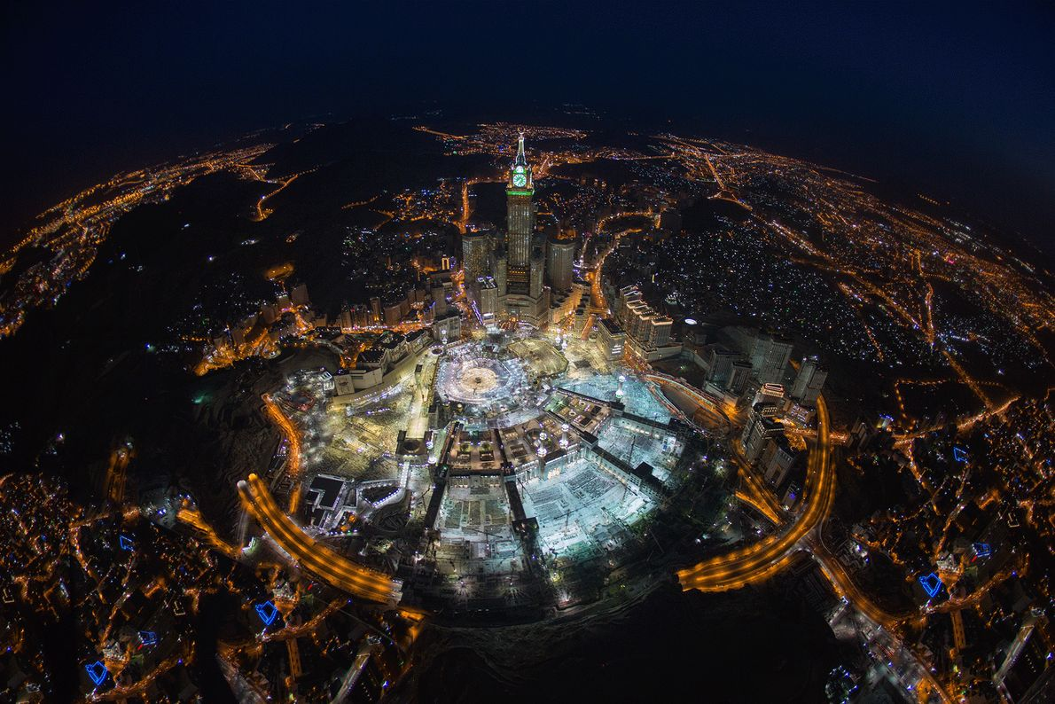 Picture of Mecca at night from above