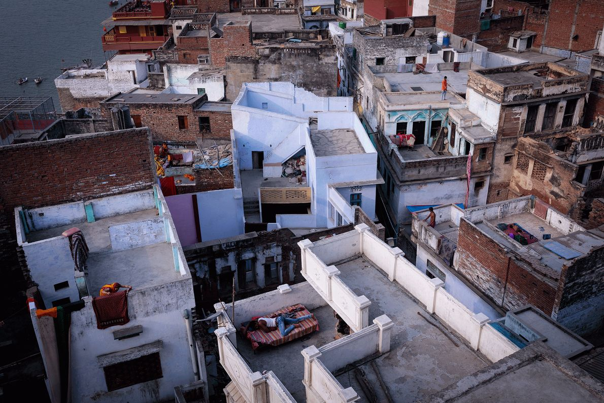 Picture of rooftops in Varanasi, India