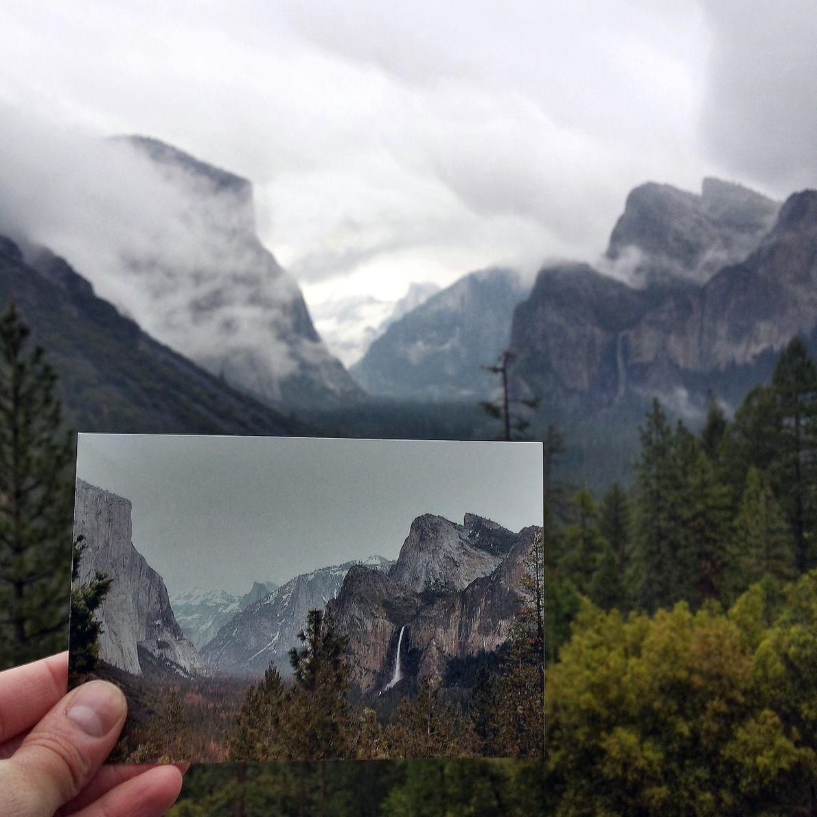 Tunnel View in nationaal park Yosemite