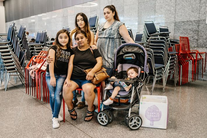 Stephine Lopez (second from right) and her family