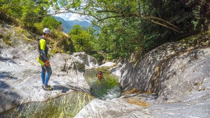 Zuid-Zwitserland: Canyoning in Ticino