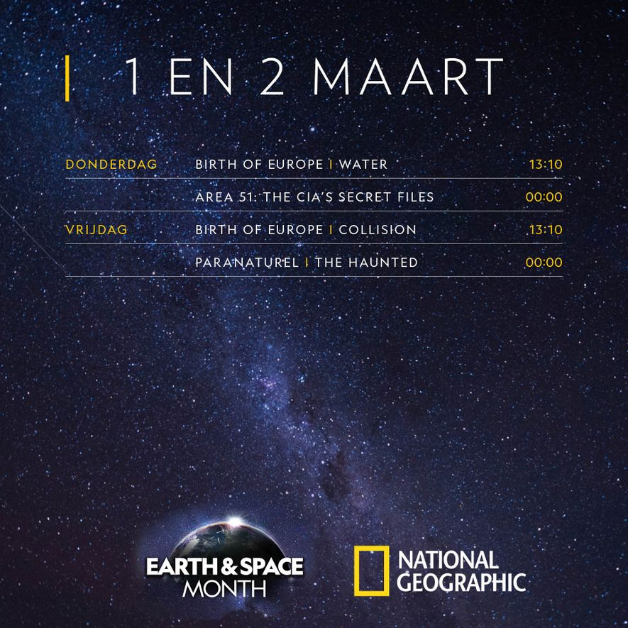 Maart: Earth & Space Month