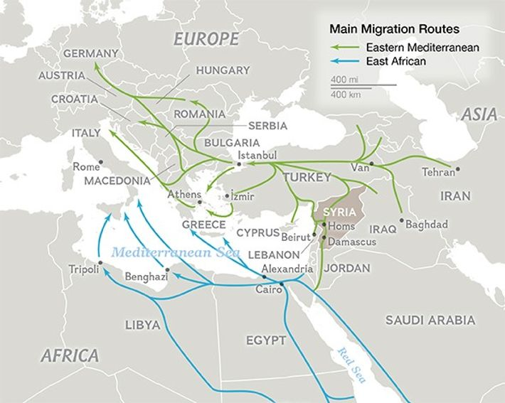 NG Staff. Bronnen: Missing Migrants Project, International Organization for Migration, UNHCR, I-Map.