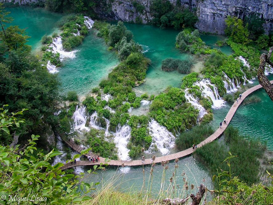 Plitvice Lakes Nationaal Park.
