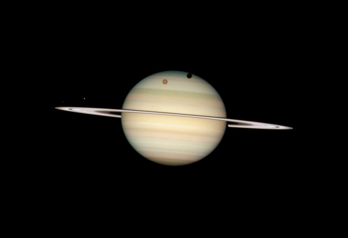 Saturn's Parade of Moons