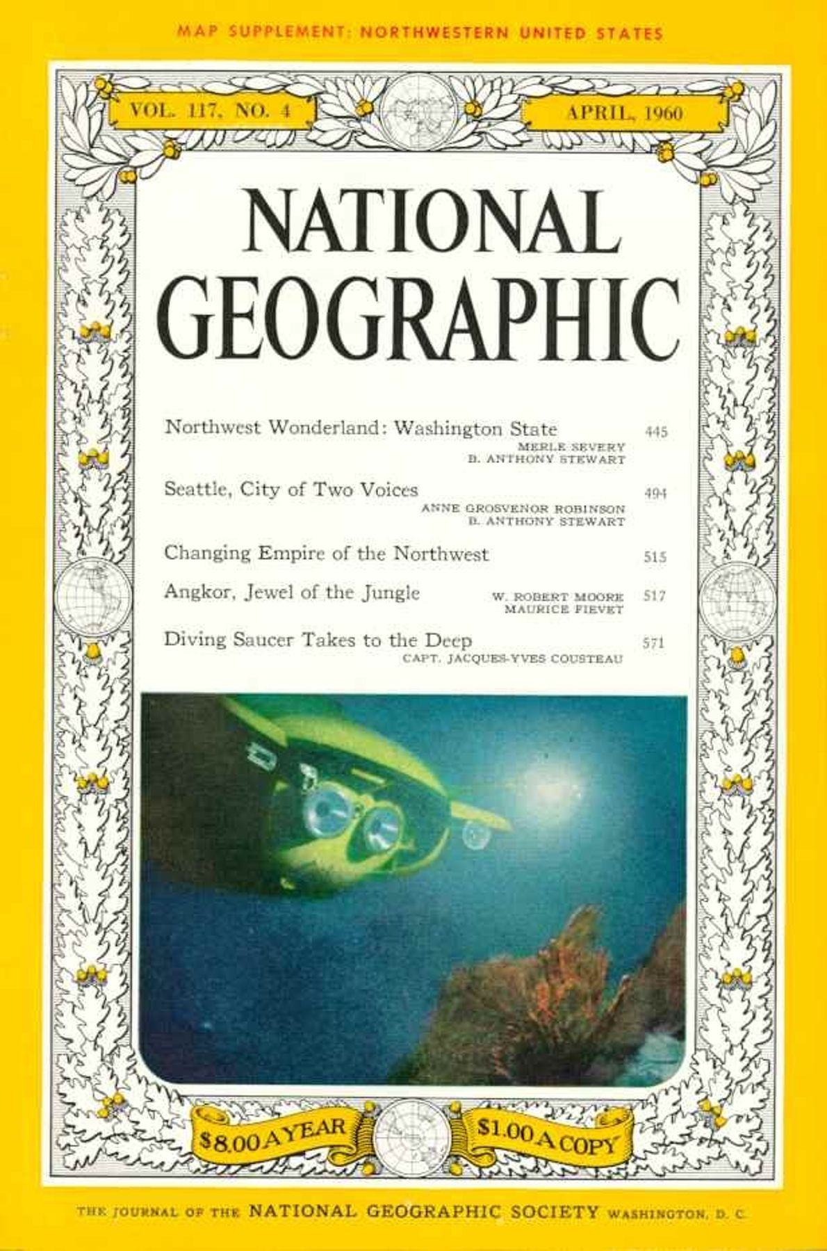 April 1960—Jacques Cousteau and National Geographic