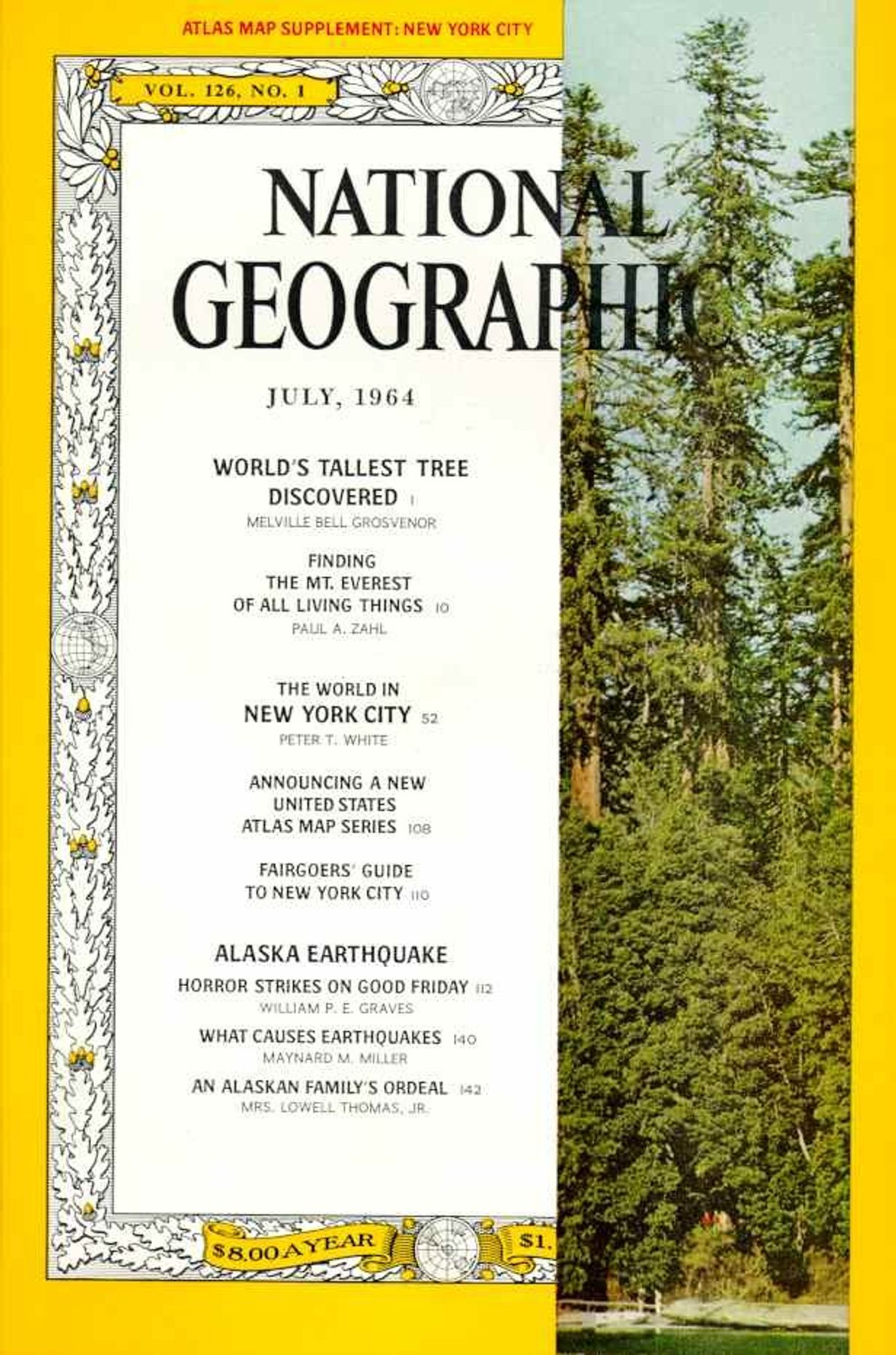 July 1964—Redwoods: Tallest Tree Discovered