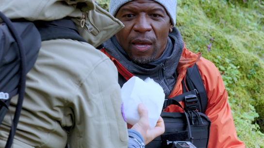 Bear Grylls en Terry crews: masterclass in de wildernis.
