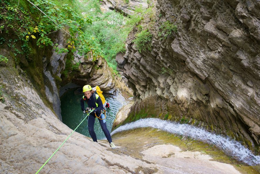 Canyoning in de Furcokloof.