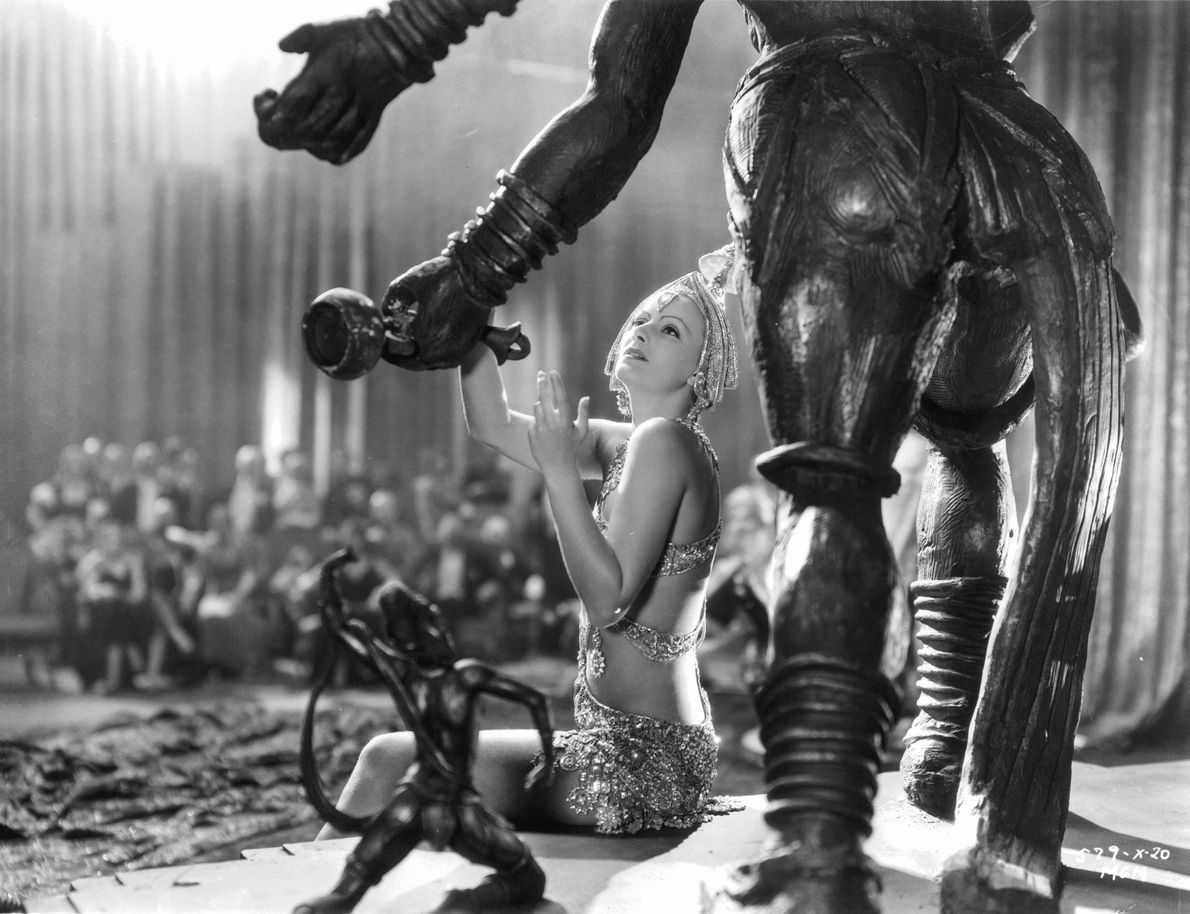 Garbo's performance of a Mata Hari's exotic strip tease before a statue of Shiva proved too ...